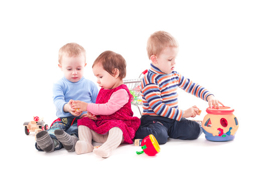 Three Children Playing