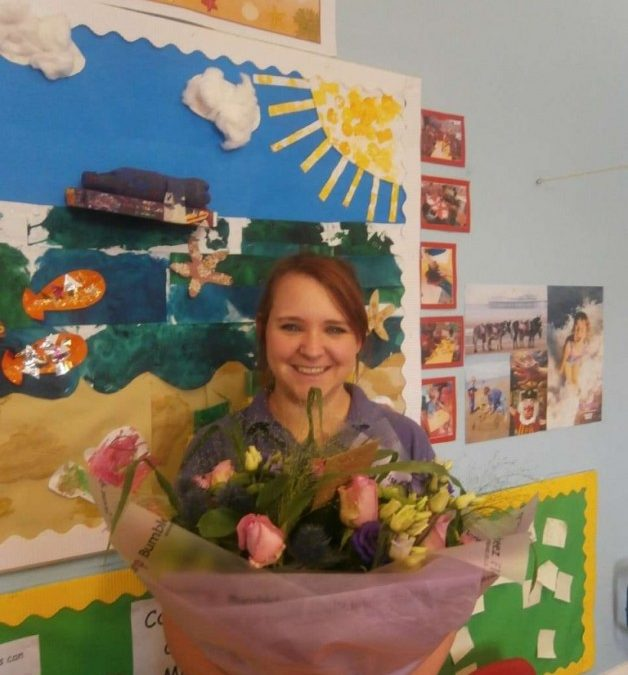 Trina with Flowers